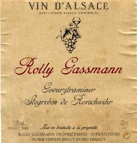 photo Rolly Gassmann Muscat Moenchreben Muscat Alsace Grand Cru Vendange Tardive